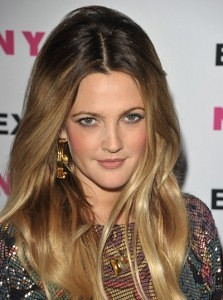 ombre hair color drew barrymore