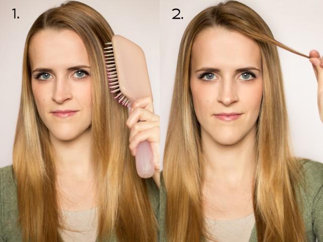 1flat iron curls