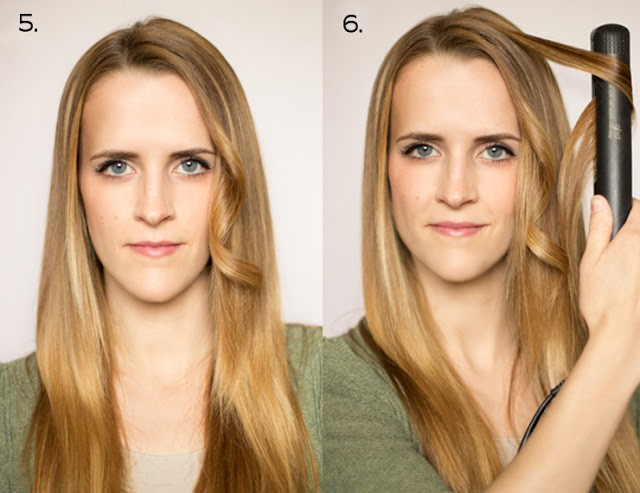 3flat iron curls