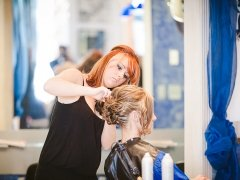 split endz salon wedding hair